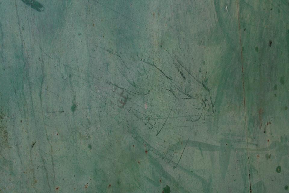 Close-up green dirty metal texture