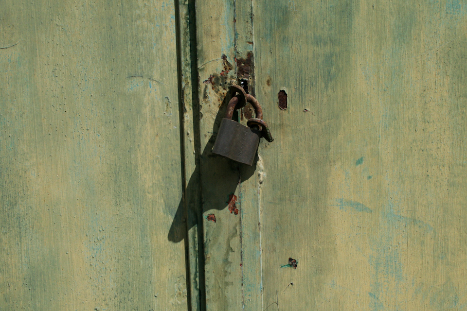 Old padlock in a door free download