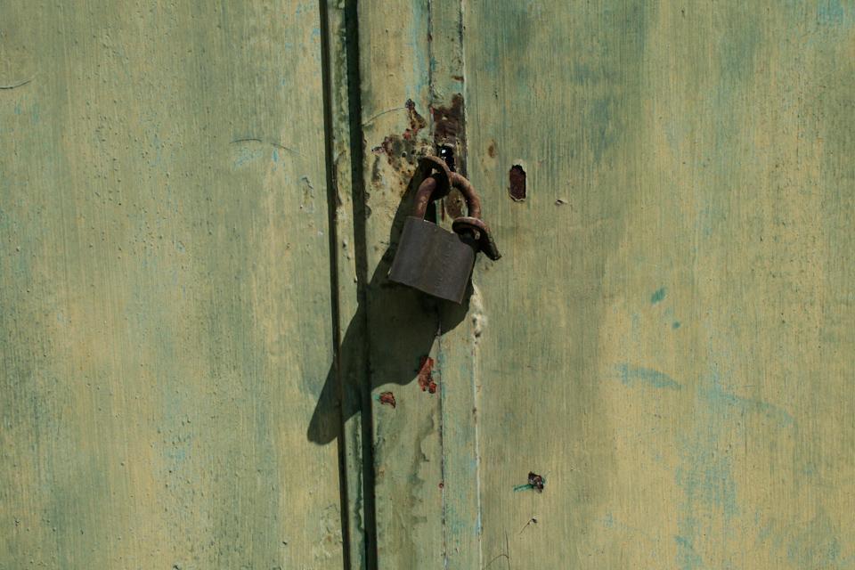 Old padlock in a door free download