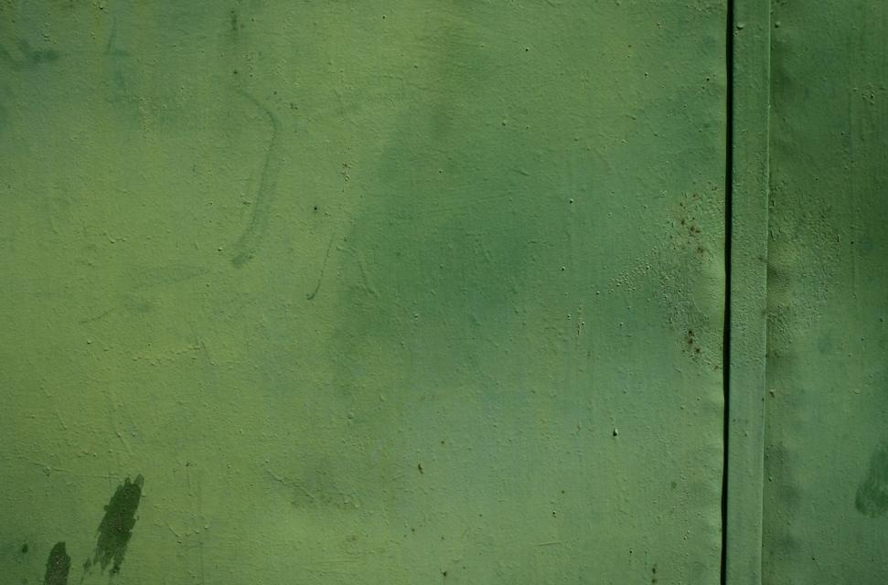 Green metal close-up texture